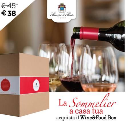 LA SOMMELIER A CASA TUA con il Wine&Food Box
