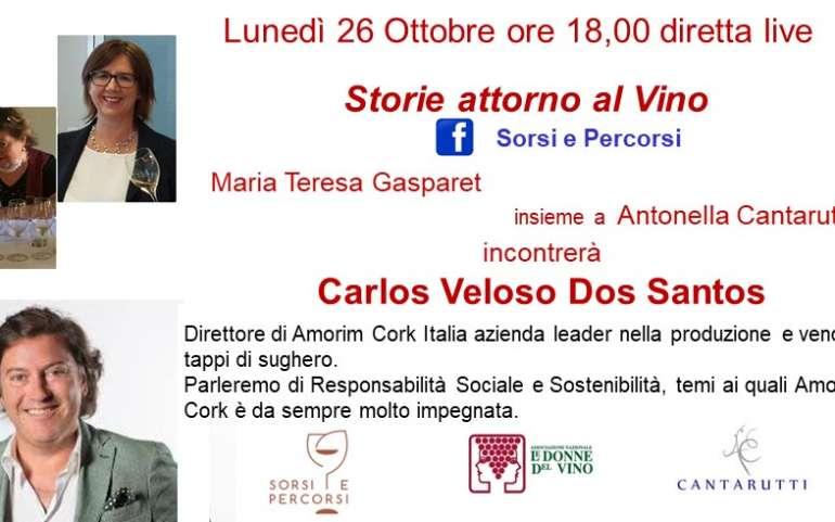 STORIE ATTORNO AL VINO CON CARLOS VELOSO DOS SANTOS DI AMORIM CORK ITALIA